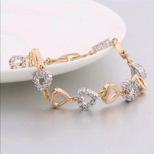 18K GF heart bracelet